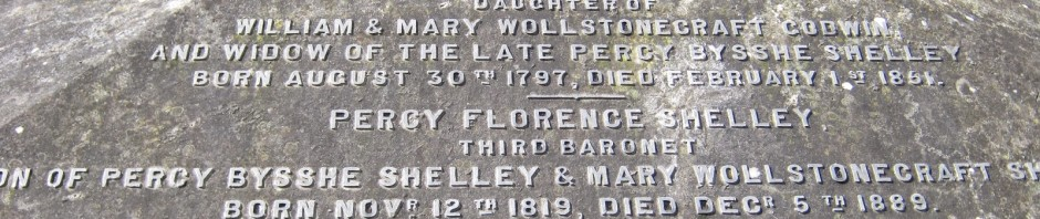 Mary Shelley's grave literary spots UK