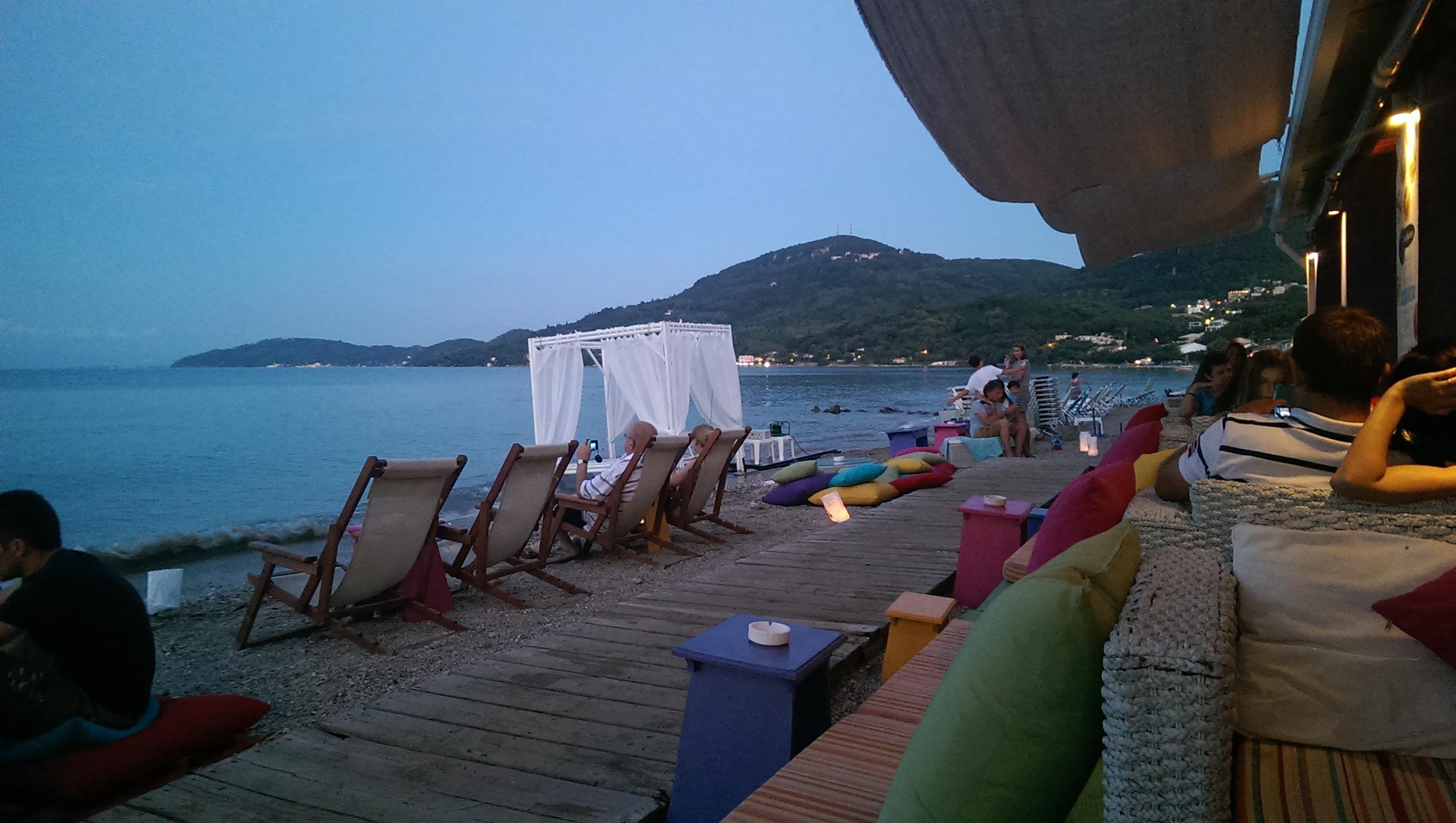Solo beach trip cocktail