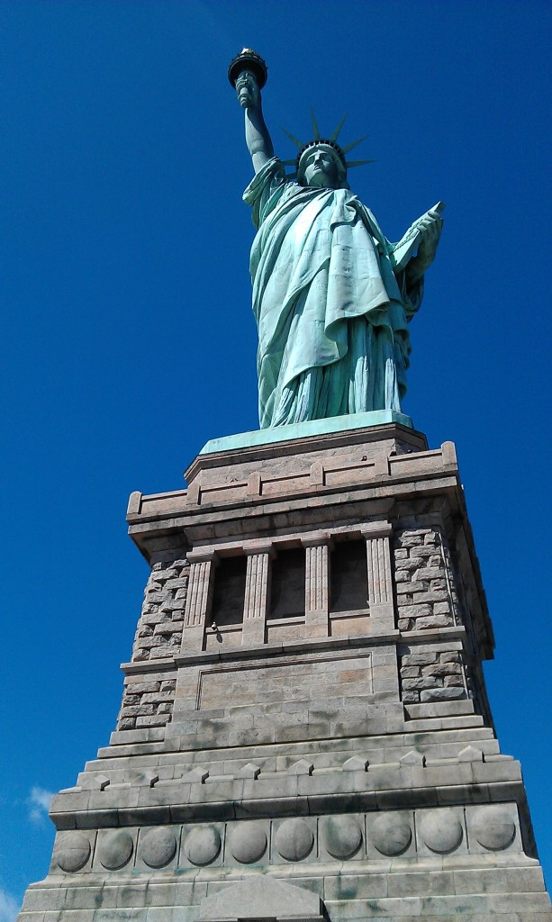 Solo trip New York City Statue of Liberty
