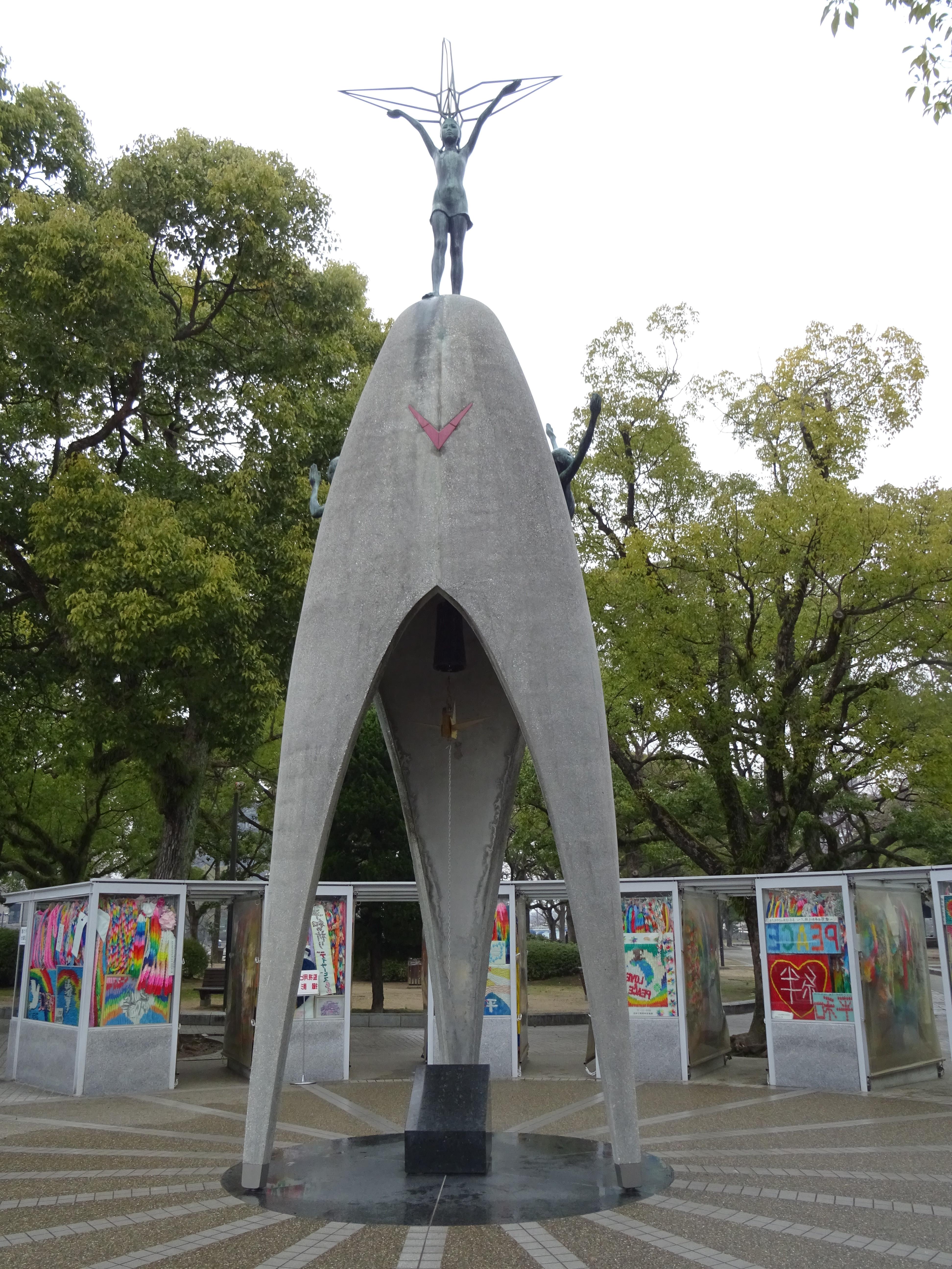 Hiroshima city of peace Peace Memorial Park Sadako paper cranes Children's Monument