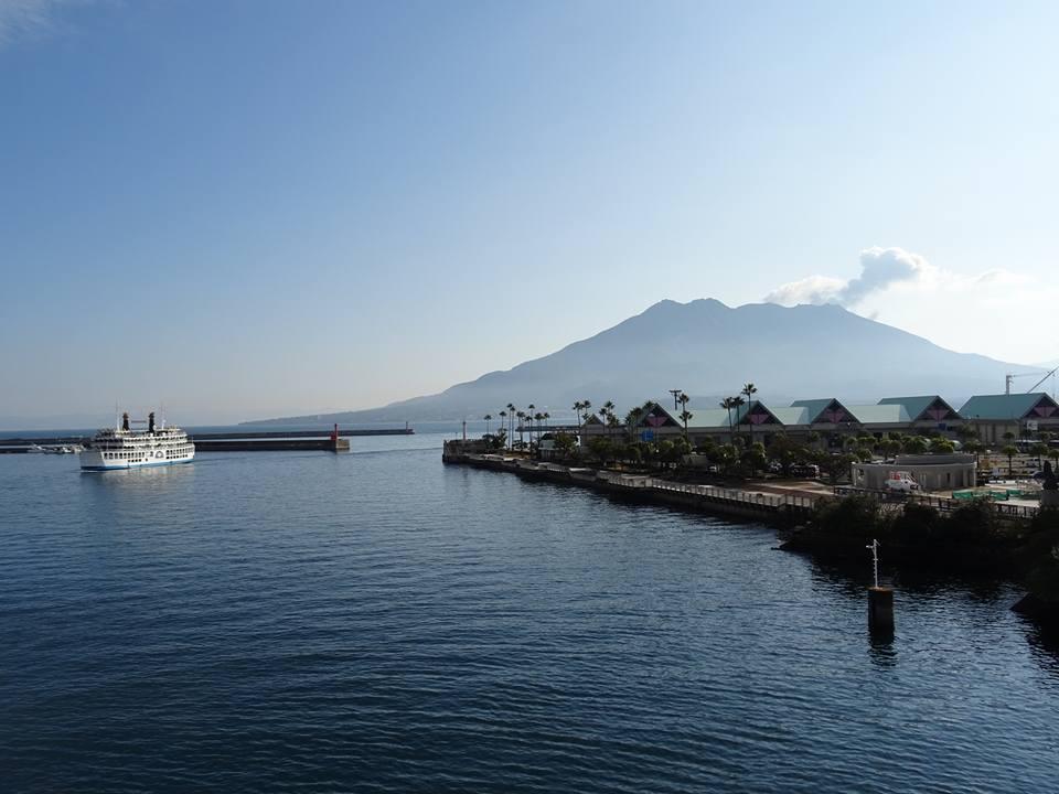 visiting Sakurajima volcano Japan
