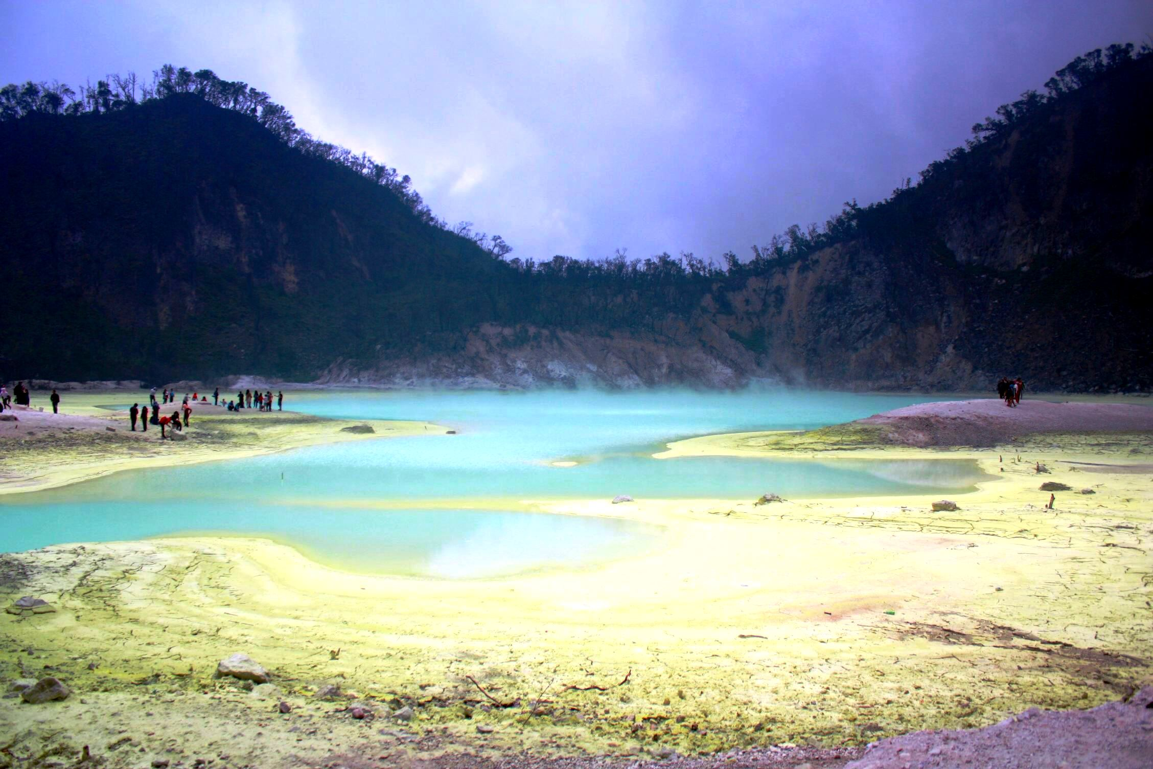 Bandung volcano Java Indonesia solo female travel