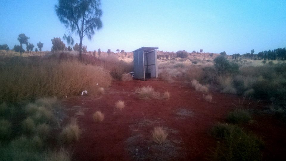 Bush camp toilet Central Australia