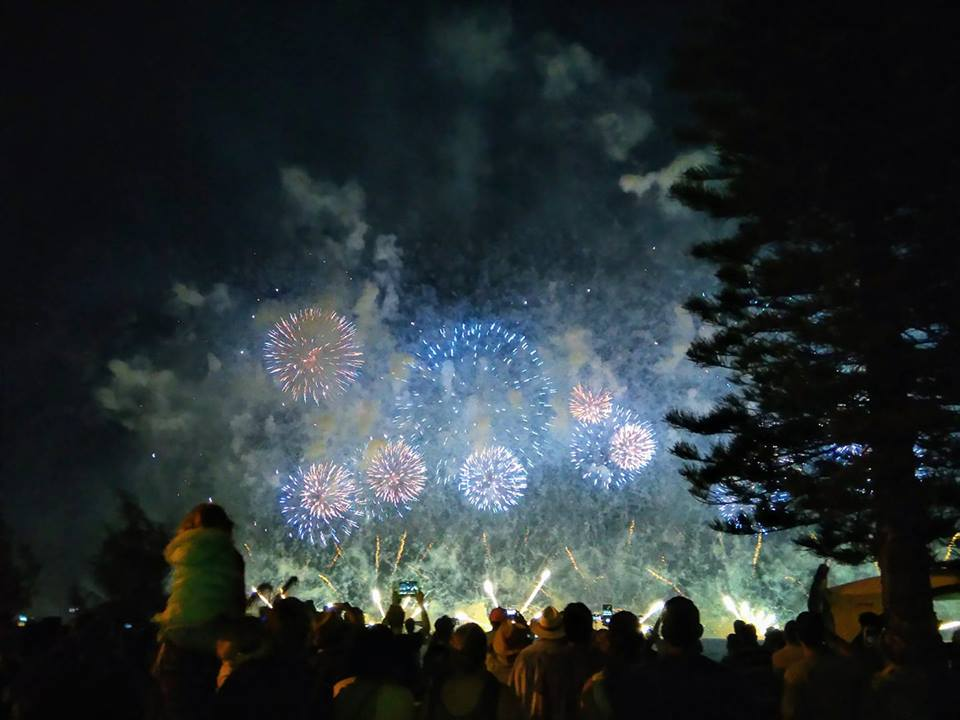 Australia Day fireworks Swan River Perth