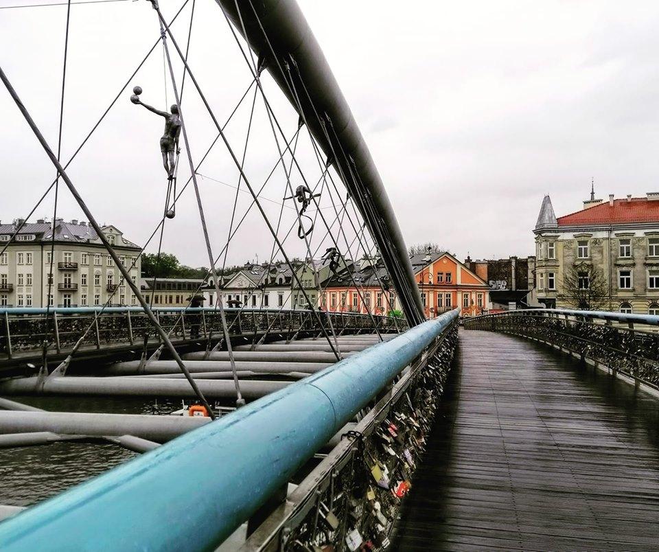 Bernatek bridge Kazimierz Jewish Quarter Krakow Poland
