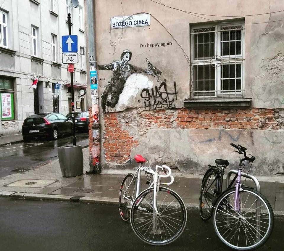 Kazimierz Jewish Quarter street art Krakow  Poland