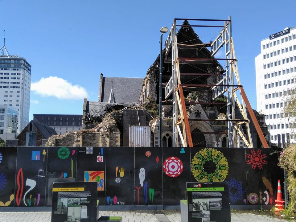 Christchurch New Zealand cathedral under repair after earthquake