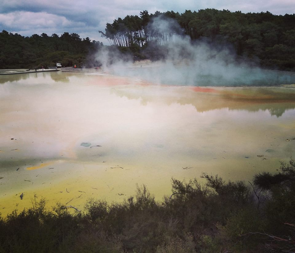 Champagne Pool Wai O Tapu Thermal Wonderland Rotorua volcanoes New Zealand North Island