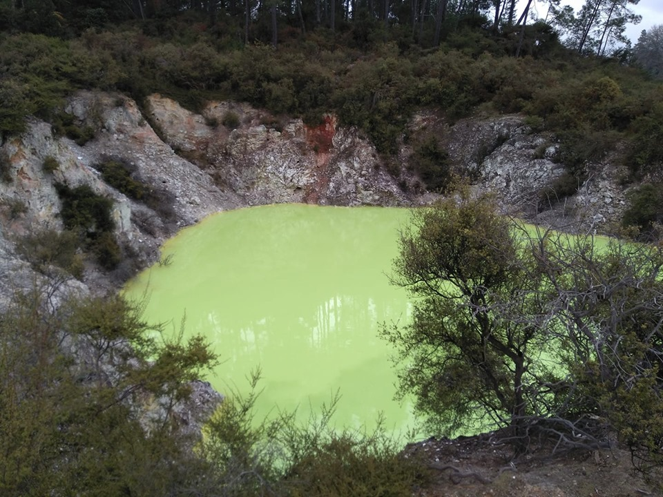 Devil's Pool Wai O Tapu Thermal Wonderland Rotorua volcanoes New Zealand North Island