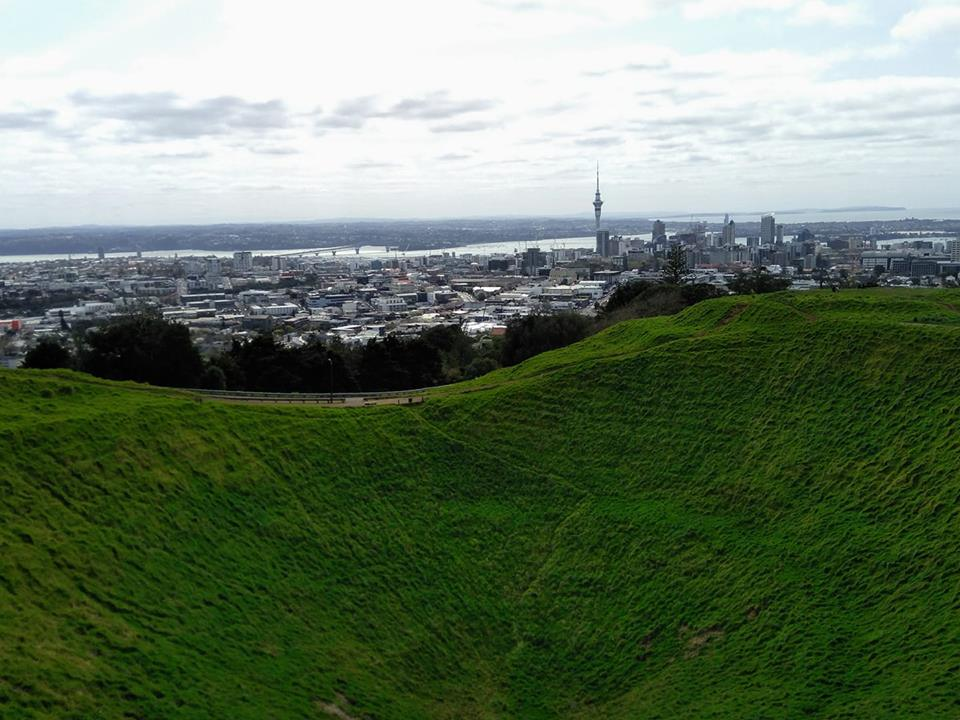 Maungawhau Mount Eden volcano Auckland New Zealand North Island