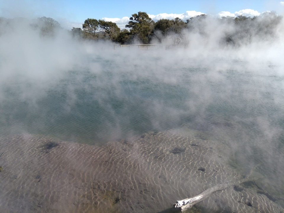 Kuirau Park Rotorua geothermal park volcanoes New Zealand North Island
