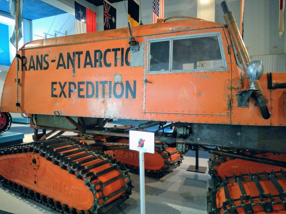 Christchurch New Zealand  Antarctic gallery Canterbury museum expedition vehicle tractor