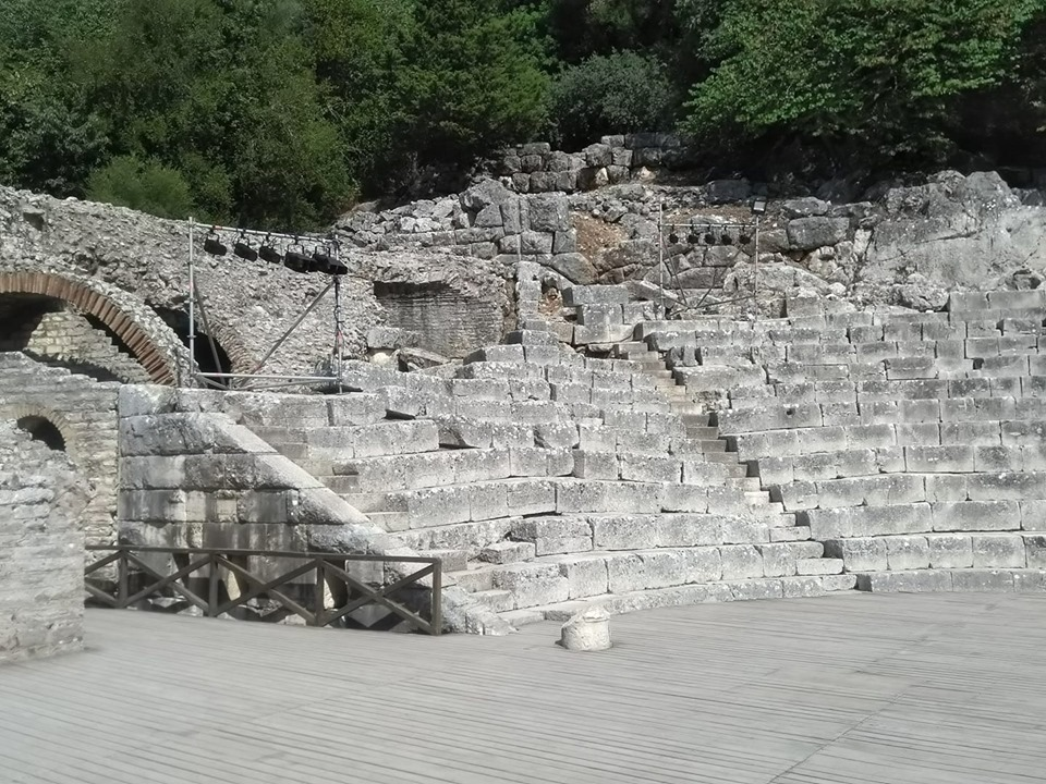 The theatre in the Roman archaeological excavations at Butrint in Albania