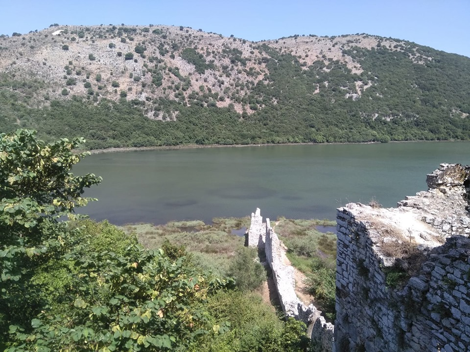 Butrint National Park with the Roman ruins in front of the lake
