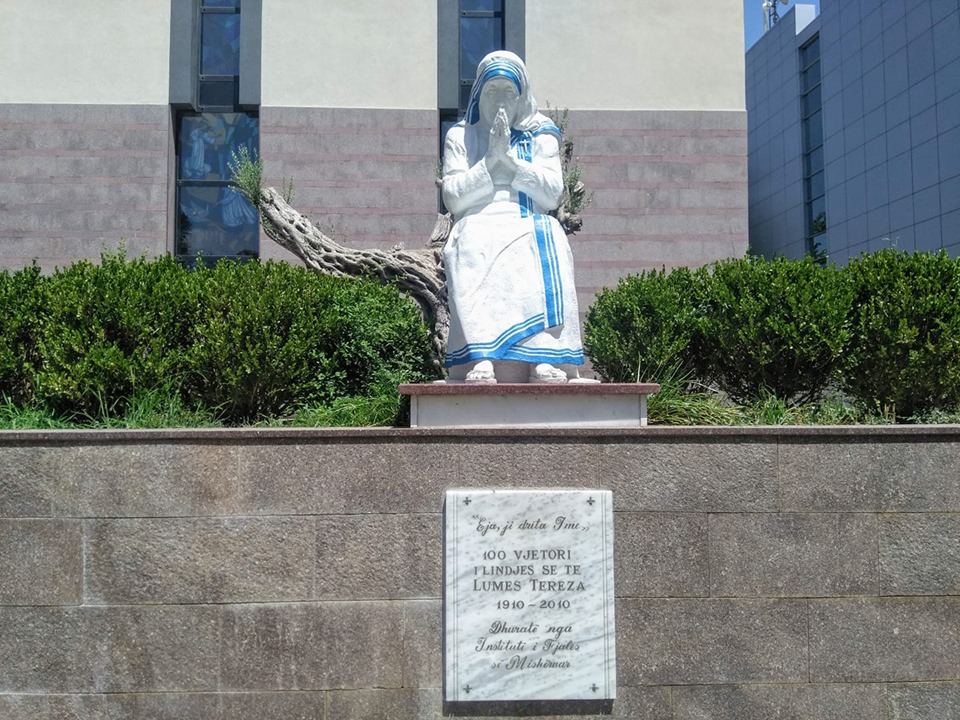 Tirana Albania St Paul's Catholic Cathedral Mother Teresa statue