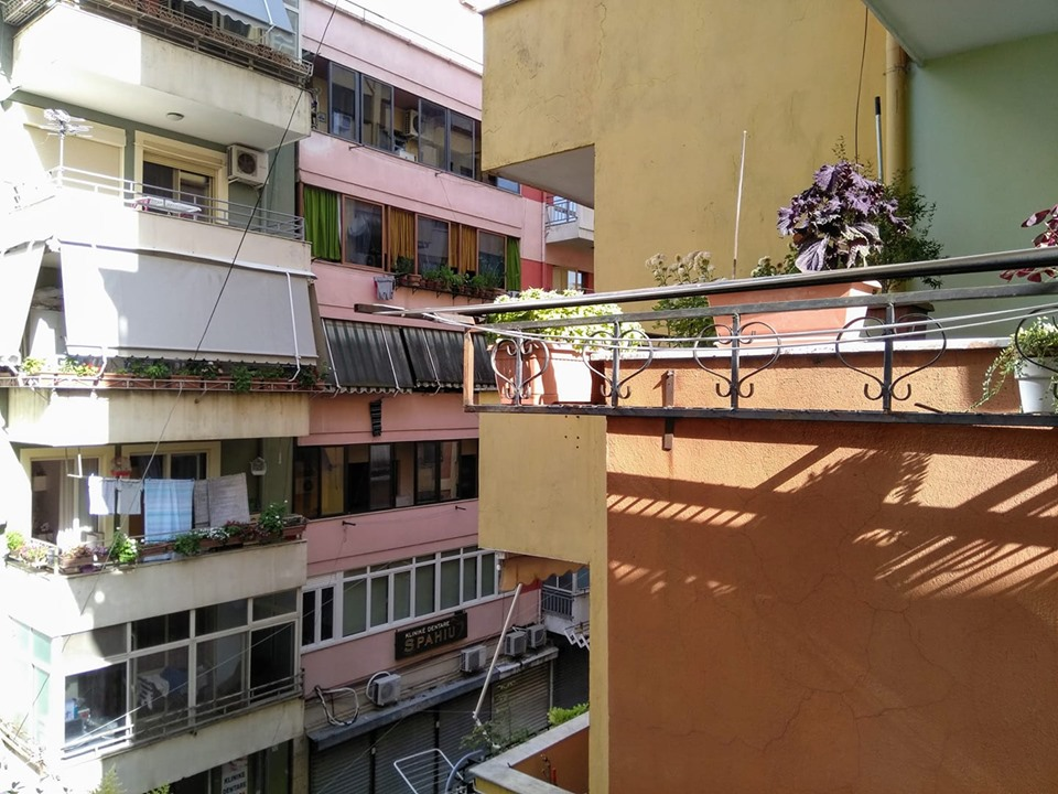 Houses in the central neighbourhood of Tirana, Albania, in which I was staying
