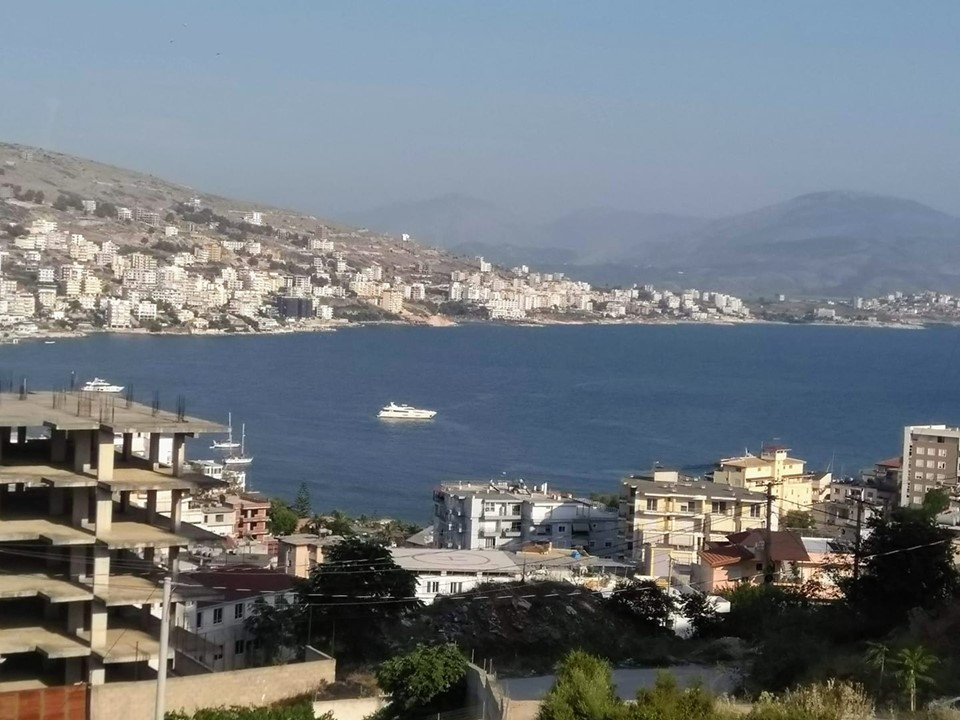 View over the bay in Saranda, Albania
