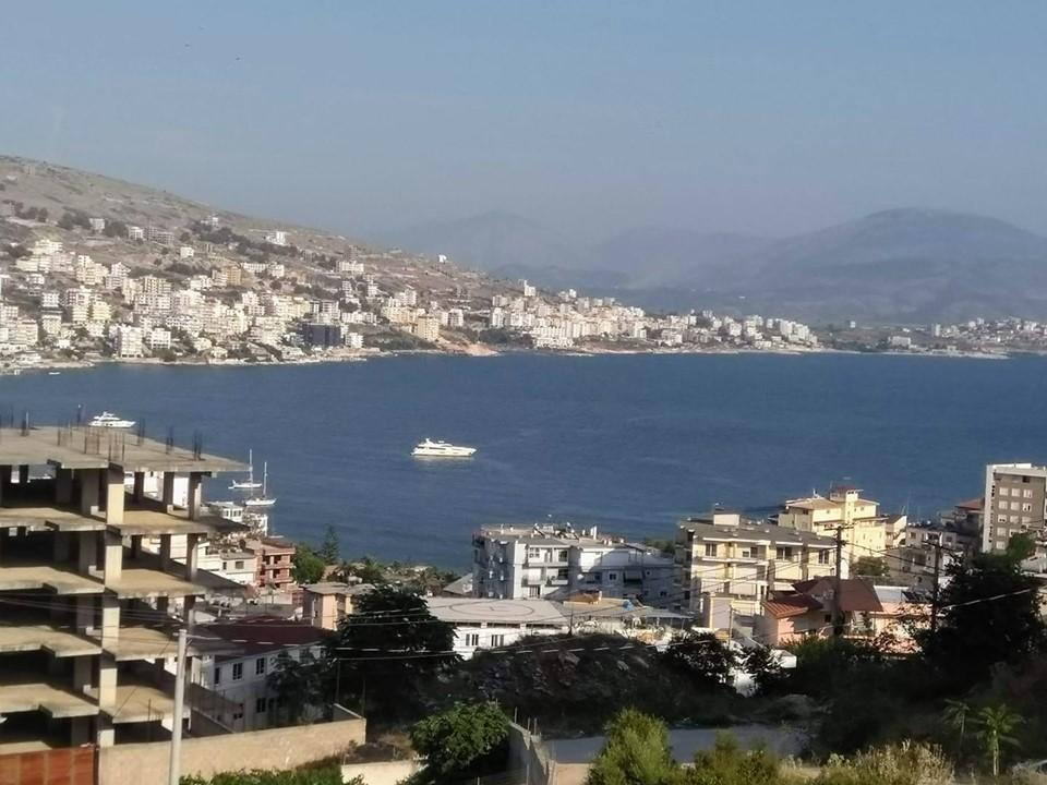 View over the bay in Saranda, Albania