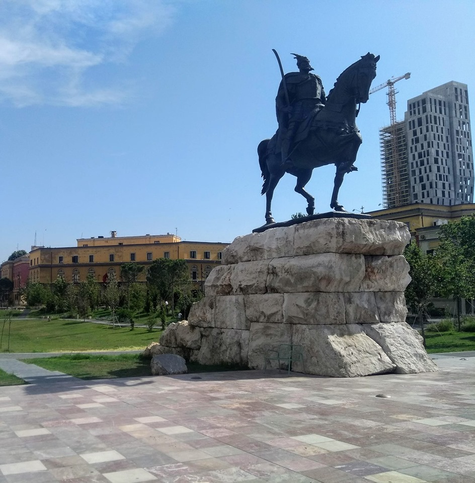 Statue of Skanderbeg in Tirana, Albania