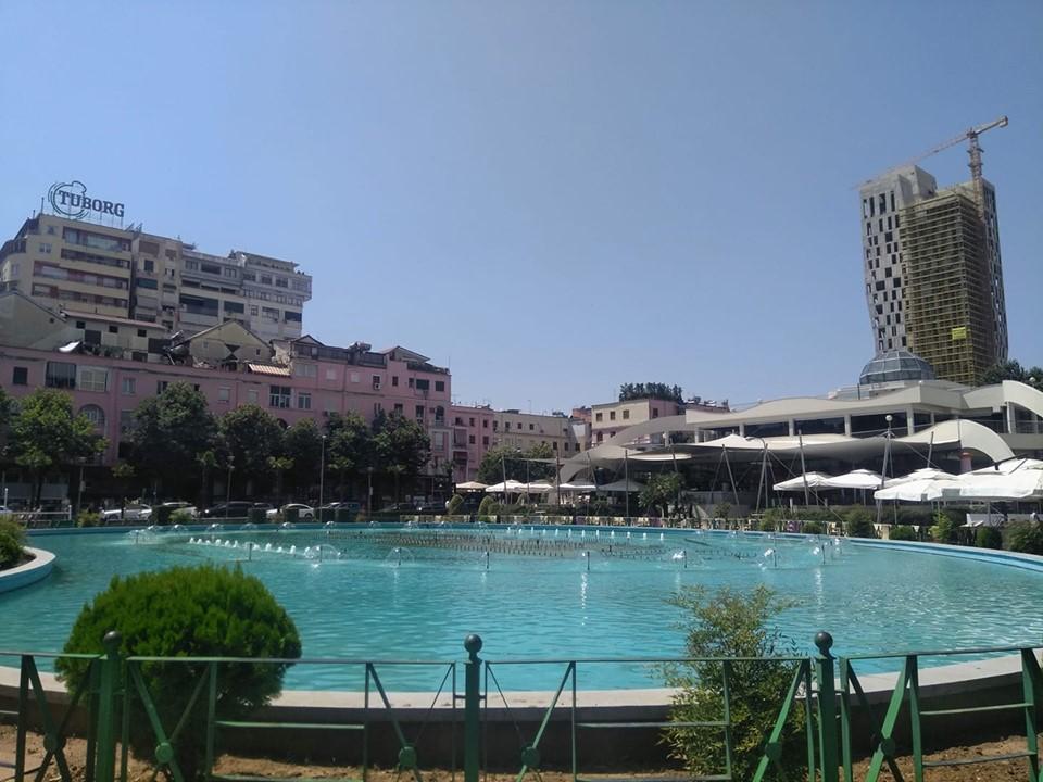 Taiwan Complex pool and fountains Tirana Albania