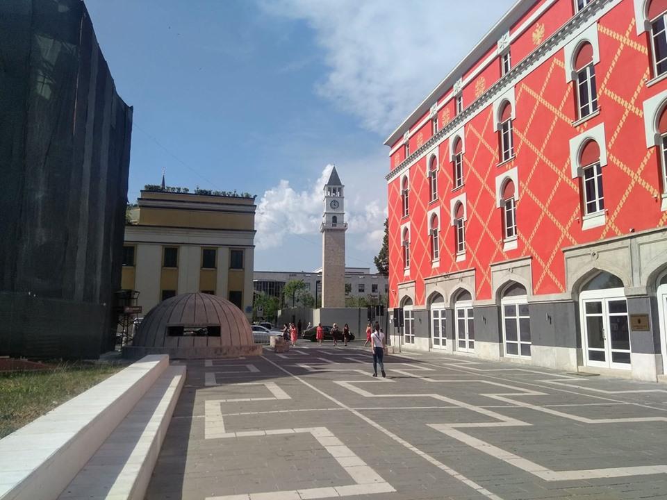 Tirana Albania Skanderbeg Square Clock Tower