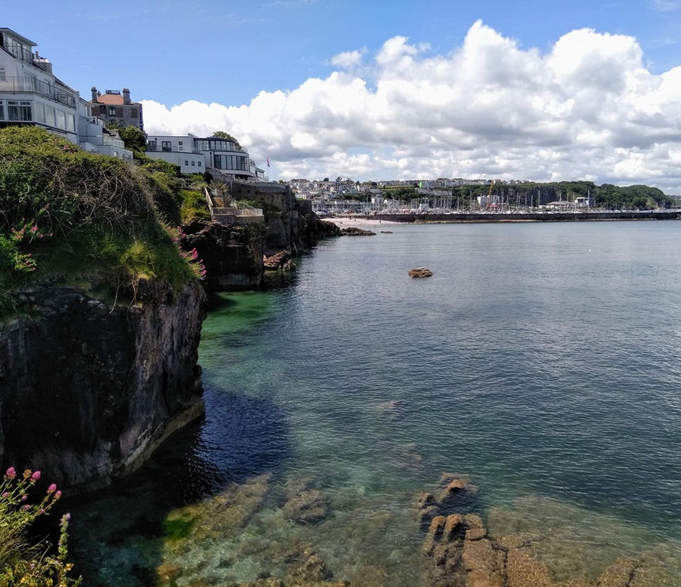 The view of Brixham harbour from the breakwater