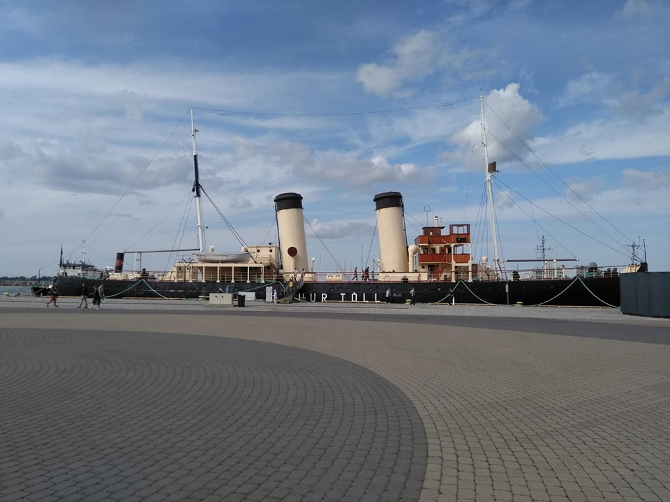 An icebreaker at the maritime museum in Kalamaja