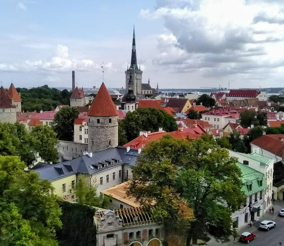 The view of Tallinn's Old Town from one of the viewing platforms