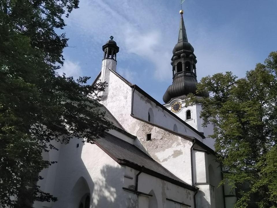 A medieval church in Tallinn's Old Town