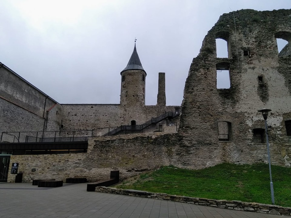 The ruins of Haapsalu castle