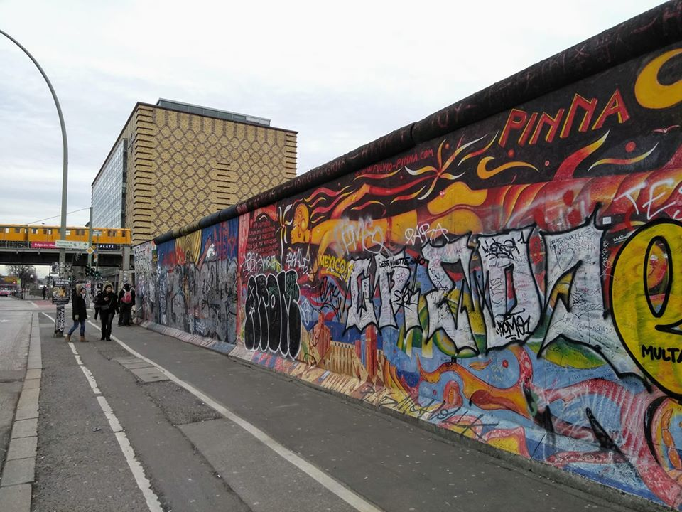 The East Side Gallery of murals on the Berlin Wall
