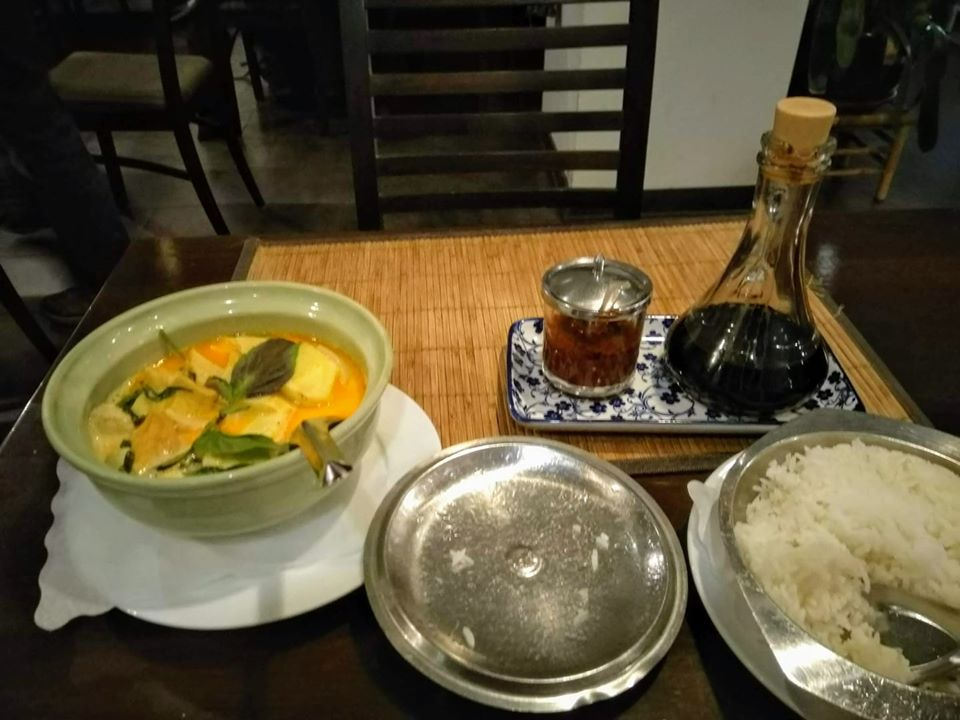 Pineapple curry and rice