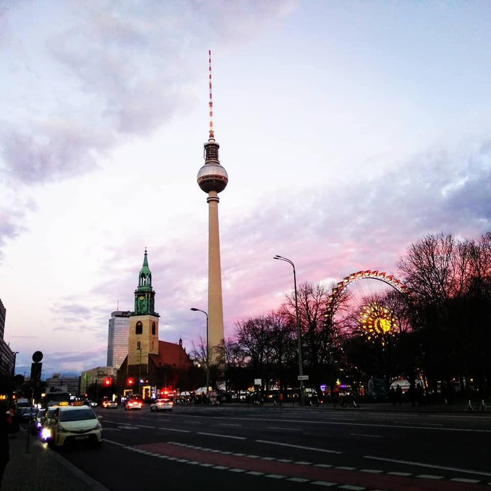 Berliner Fernsehturm TV Tower Berlin Germany Cold War GDR DDR Berlin Wall East West solo female travel