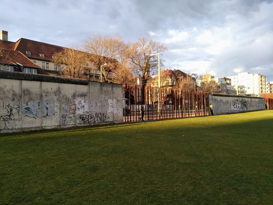 The steel reinforcements and remains of the Berlin Wall at Bernauer Strasse